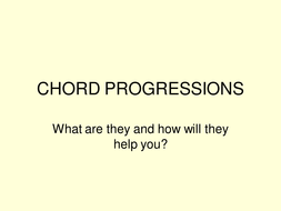 Chord progressions & cadences