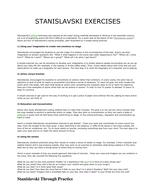 Stanislavski Exercises