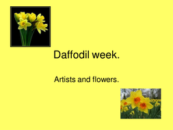 Daffodil week artists.ppt
