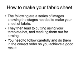 How to make your fabric sheet.ppt