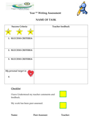 TEMPLATE FOR WRITING TASK ASSES SHEET.doc