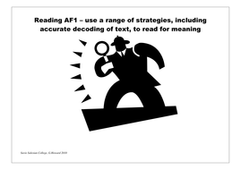 Assessment Focuses AFs reading writing display