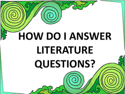 Answering Literature Questions