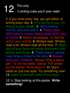 Twelve and One-Half Rules for Writing Poster