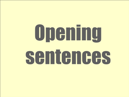 Opening lines and plenary - lesson 3.ppt