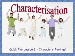 Characterization - Lesson 3 - Feelings