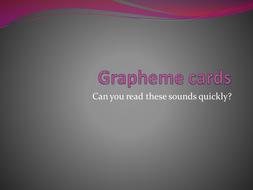 Grapheme cards