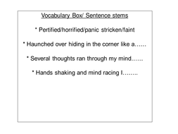 anne's last diary entry sentence stems & vocab box.ppt