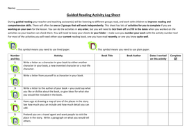Guided Reading Independent Activities