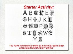 Othello: starter based on characterisation