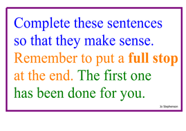 Write some simple sentences
