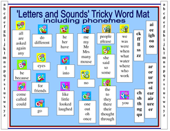 Letters and sounds tricky word mat