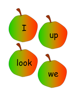 High frequency words on apples