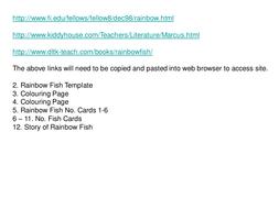 Rainbow fish ideas
