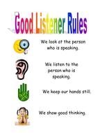 Good listening rules