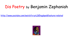 Poet & author Benjamin Zephaniah