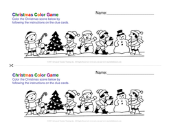 Christmas Color Game ESOL Resources