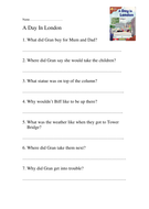 Comprehension Sheets