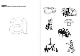 Initial Phoneme Worksheets~a; b; c