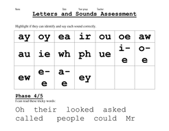 Phonic assessments