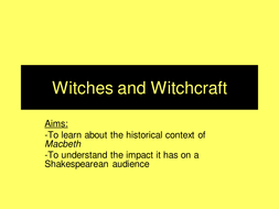 Lesson on the witches- Macbeth