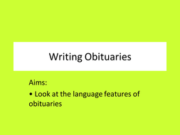 Writing Obituaries.ppt
