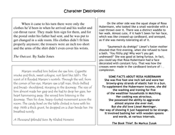 character descriptions.doc
