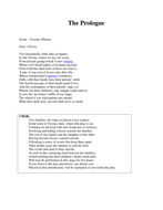 Romeo & Juliet- The Prologue+translation