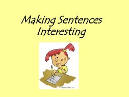 Improving sentence structure and vocab