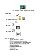 A guided reading sheet for making Easter nests