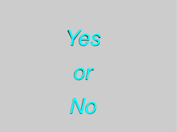 Yes /no questions for use with phonics