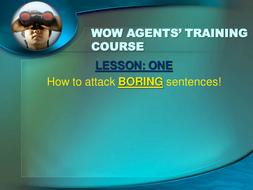 WOW AGENT - Defeating BORING SENTENCES