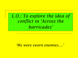 conflict across the barricades.ppt