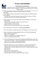 To Kill a Mockingbird - practice essays.doc