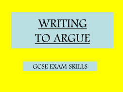 Writing to Argue