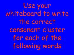 Identifying correct consonant cluster