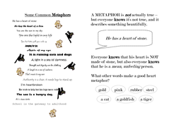 Metaphor Handout Sheet