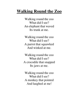 walking round the zoo poem