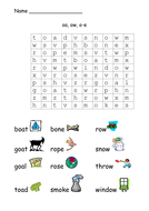 More Phonic Word Searches