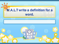 How to write a definition