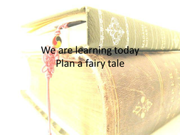 Fairy tale PowerPoint for planning a fairy tale