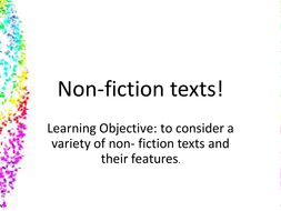 Non fiction texts- intro lesson