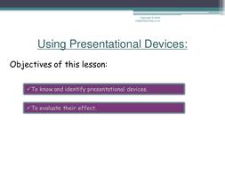non fiction texts- presentational devices