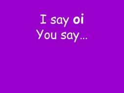 I say you say - long vowel phonemes