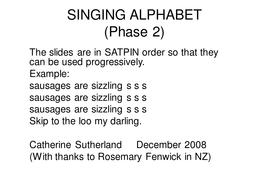 Phonics Singing Alphabet PowerPoint