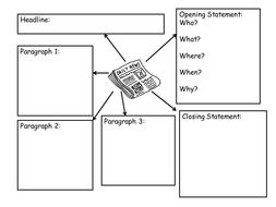 Newspaper Planning Template