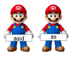 Mario tricky word cards