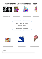 Harry and dino activity sheet - lower.doc