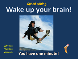 Speed Writing visual images