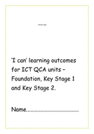 'I can' learning objectives